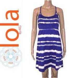 Lola by AFG Blue Crush Tie Dye Dress